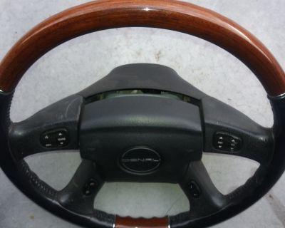 chevy chevolet envoy trailblazer yukon envoy steering wheel airbag wood grey gray