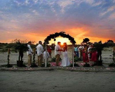 Sunset Beach Wedding Photos Ocean City | Sunny Beach Weddings