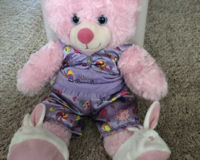 Sleepover Build-A-Bear with pajamas and slippers