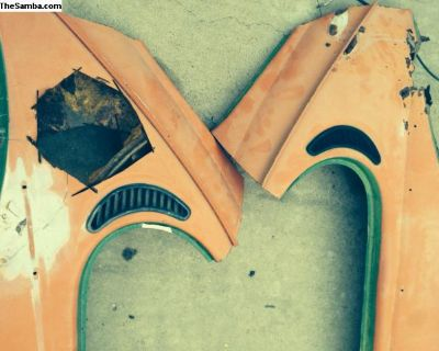 Vent Repair Metal Off 1971 Bug