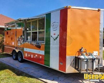 Self-Sufficient 2014 - 22' Commercial Kitchen Food Concession Trailer