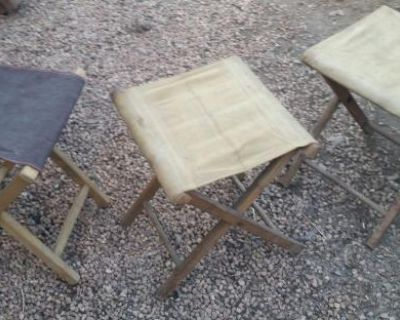 Vintage folding camper stools