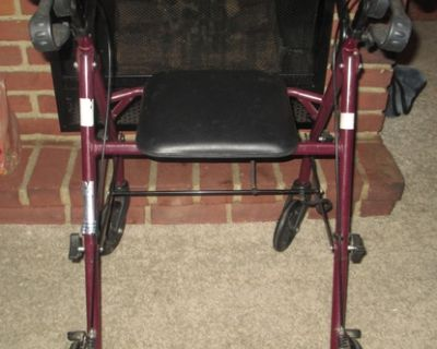 Medline Walker w/Seat Foldable