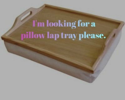 ISO pillow lap tray please