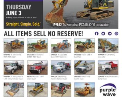 June 3 construction equipment auction