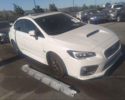 Salvage White 2015 Subaru Wrx
