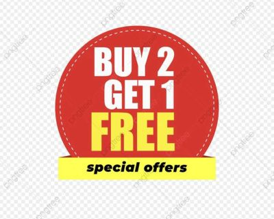 Buy any 2 Items and get one free
