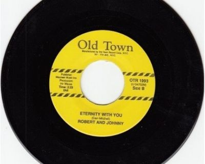 ROBERT And JOHNNY ~ Eternity With You/Hear My Heartbeat*M-45*BROWN WAX !