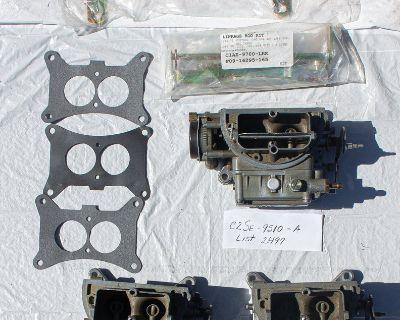 Ford Rebuilt Tri Power Holley Carburetors with New Fuel Log