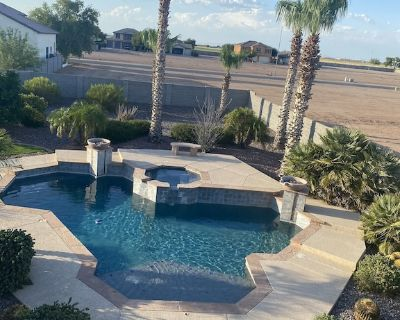 5/4 luxury retreat wheelchair access pool, spa, fire pit and outdoor barbecue! - Maricopa