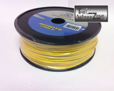 New Bullz Audio Bpr18-400yl 18 Gauge 400' Feet Primary Remote Wire Cable Yellow