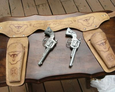 Vintage Collectible Toy Guns and Holster