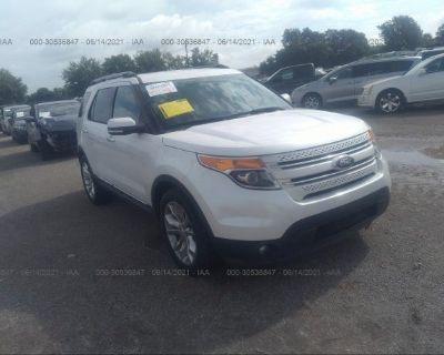 Salvage White 2013 Ford Explorer
