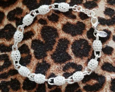 .925 silver barrel bracelet