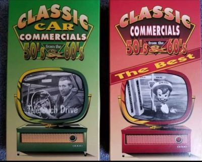 Two 1950's & 1960's classic car commercial vhs movies
