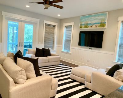 6 Seater Golf Cart Included, 3 Master Suites Plus Bunkroom, Patio with FirePit - Seagrove Beach