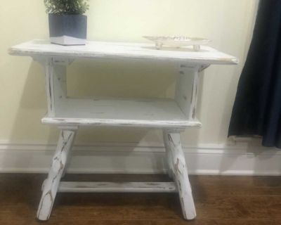Painted side table - cross posted