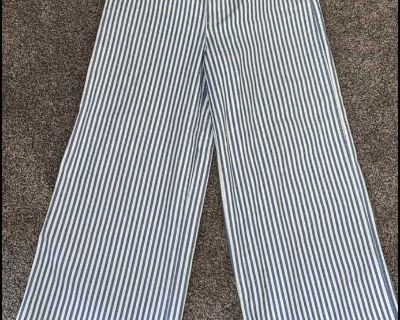 Madewell 28 denim striped relaxed straight leg high rise pant