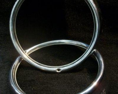 Nice Used Pair Hella SB12 Headlight Rings 1967