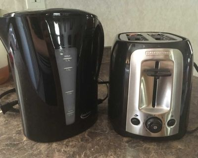 Toaster and A water boiler both items in good condition