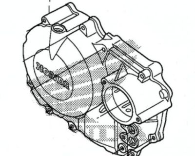 New Genuine Honda Oem Right Crank Case Side Cover 2008-2009 Trx400ex/x Trx 400
