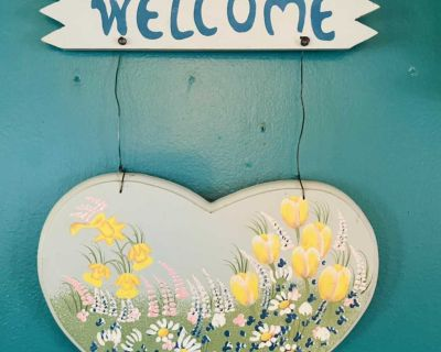 WELCOME-Wood sign