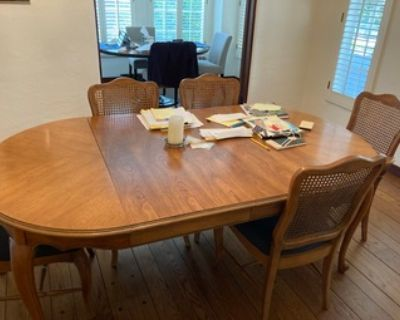 Wood Dining Table with 4 chairs (faux antique)