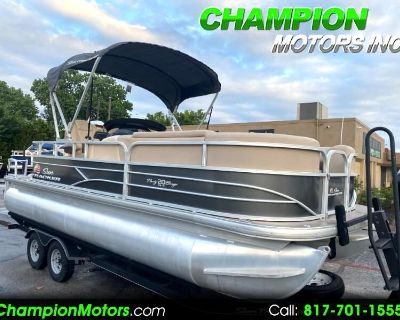 Used 2019 Sun Tracker Party Barge 20 DLX Pontoon Boat w/Mercury 90hp CT 4S