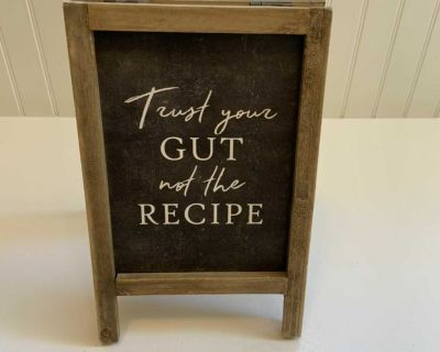 Fun Kitchen Table Top Sign- Two Sided