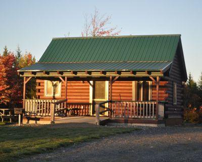 Modern cabin, large interior space, wheelchair ramp, sleeps 6. - Sebec
