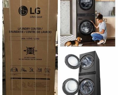 LG Single Unit GAS WashTower with Center Control 4.5 cu. ft. Front Load Washer and 7.4 cu. ft. Dryer