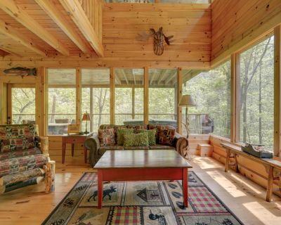 Secluded cabin tucked away in the woods, with fireplace, hot tub and pool access - Pigeon Forge