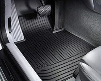 Bmw Oem 128i Coupe Rear Rubber Floor Mats (black) With Warranty New