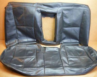 07-09 W221 Mercedes S550 S400 Rear Seat Upper & Lower Skin Leather Black Oem #1