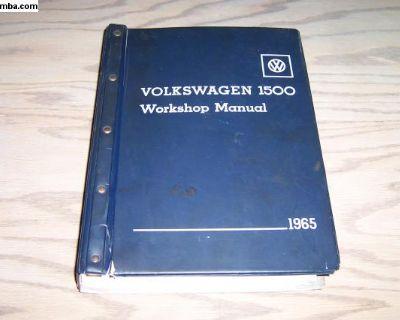 Original Dealership 1965 Type 3 Workshop Manual
