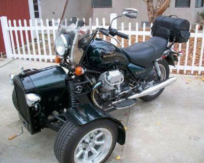 Moto guzzi trike vandalized