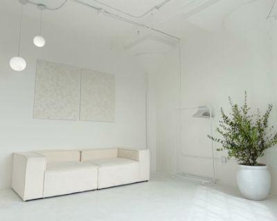 Bright White Modern Minimal Loft, Los Angeles, CA
