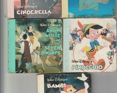 5 ORIGINAL DISNEY MINI BOARDBACK BOOKS ~ Cinderalla+ !