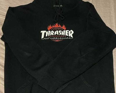 Thrasher X HUF Black Hoodie