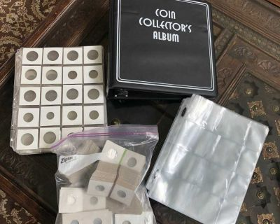 Coin Currency Collector Album -Black