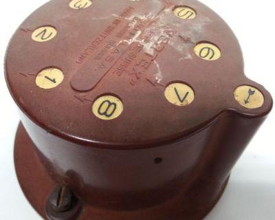 Orange Brown 8 Cylinder Vertex Scintella Of Switzerland Magneto Distributor Cap