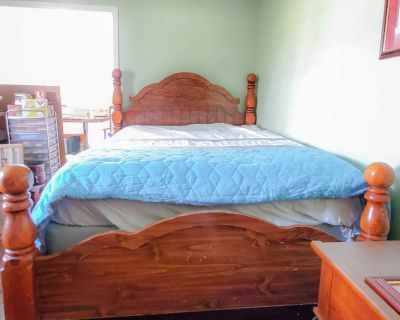 Large Beautiful Sturdy Antique Bed - queen size