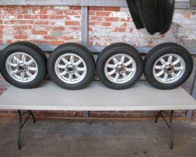 Minator Scp Knock-off Wheels 5.5 X 15 Austin Healey 3000 Triumph 2 4 6