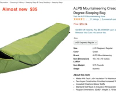 Camping gears for sale