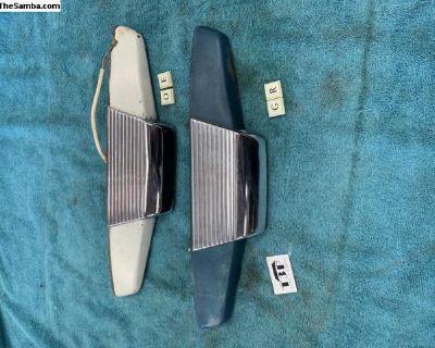 Fastback notchback rear license plate light