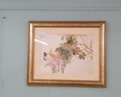 Asian Wisteria signed on Rice Paper #1265-5856