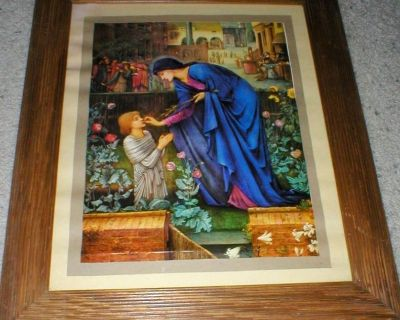 Religious Poster Framed - Woman with Child
