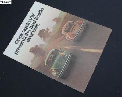 1976 Convertible Beetle Brochure Advertisement