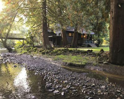 Rustic Creekside Cabin - Oatfield