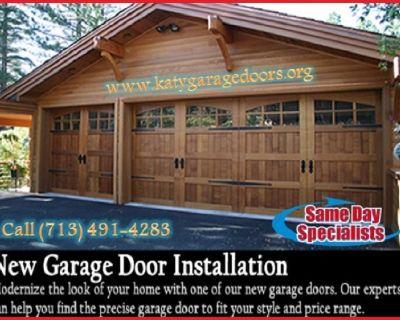 Local 1 hrs New Garage Door Installation Repair Katy, TX – Start $25.95